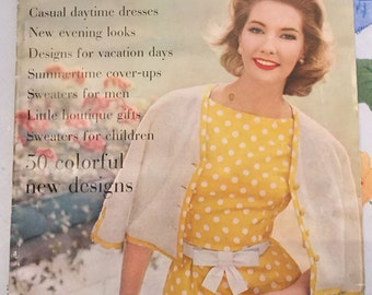 Vintage Vogue Knitting Book, Spring-Summer 1960 Issue, Vintage Knitting Patterns, Instructional Book