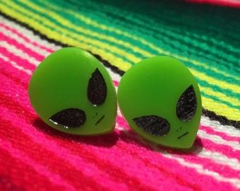 Mini Alien Head Earrings