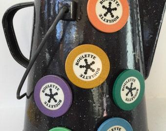 Vintage Roulette chip Magnets