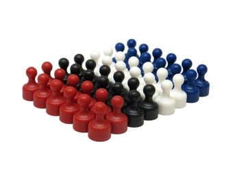 48 Pack - Plastic Assorted Color Small Magnetic Push Pins - Neodymium Fridge Magnets - Small Push Pin Magnets - Refrigerator Magnets