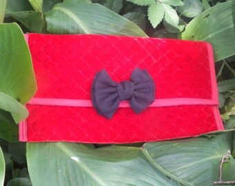 Red Velvet clutch Purse