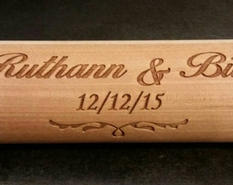 Engraved Rolling Pin, reversed on one side.