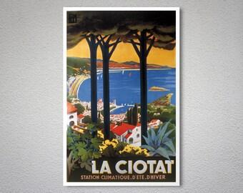 La Ciotat Vintage Travel Poster, Poster, Sticker or Canvas Print