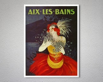 Aix Les Bains  France Travel Poster by Leonette Cappiole - Poster Print, Sticker or Canvas Print