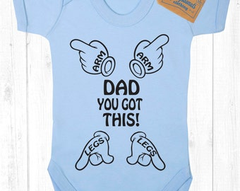 Dad you got this Father's Day Shirt Bodysuit Toddler Youth Cute Baby Infant Clothes New Born Shower Gift funny