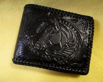 Vintage Hand Tooled Western Wallet from the late 50's. NICE!
