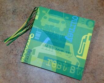 Colorful Road Trip, Travel, or Vacation 7x7 Scrapbook, Handmade Album