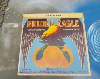Vintage Orange Crate Labels, 30s Crate Label, Vintage Crate Label, Charles C. Chapman Citrus Label, California Citrus Label