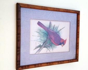 40s Prints, Bird Prints, Cardinal Print, Ph. Gommer Print, Vintage Print, Vintage Art, 60s Decor, Red Bird, Blue Bird, Vintage Bird Prints,