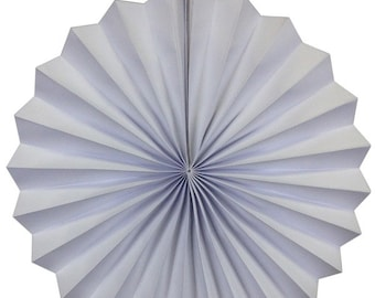 """12"""" White Hanging Paper Pinwheel Party Decoration - Item Number: PPW120001 - Just Artifacts Brand"""