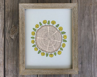 Tree-of-life, Tree Ring Print, Tree Art Print