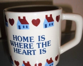"Vintage ""Home Is Where The Heart Is"" Mug"