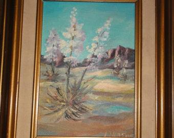 Vintage J. Norton  Desert Painting on Board/Signed