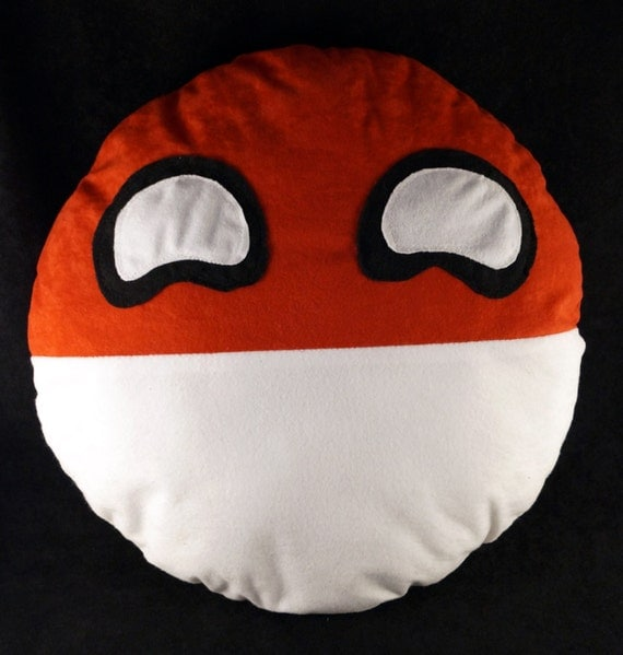Polandball plushie, pillow