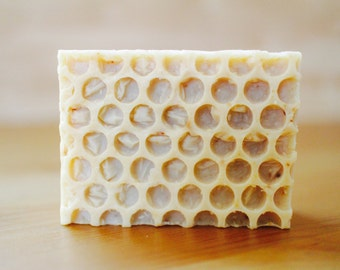 Almond Milk Oatmeal and Honey handmade artisan soap bar