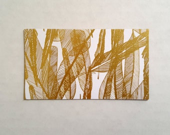 Golden Feathers Magnet