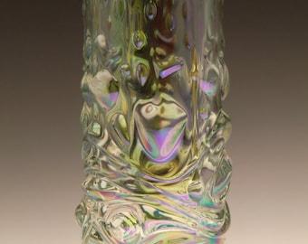Czech Bohemian Sklo Union Art Glass Iris Iridescent Vase by Frantisek Peceny