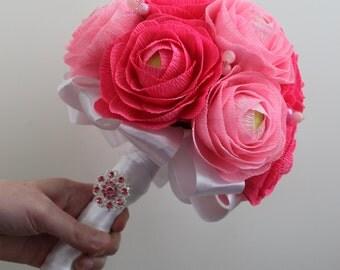 Paper Wedding Bouquet Pink