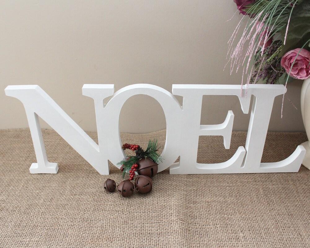 Noel free standing letters christmas decor