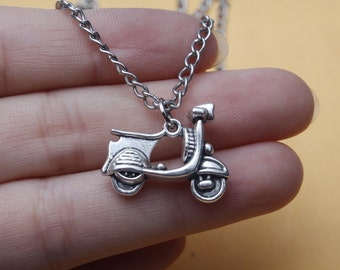 Motorcycle Necklace, Motor Cycle Charm, Motorbike, Bike, Scooter, Goft For a Man, Gift For a Teen