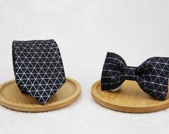 Black diamond Bowtie - Modern Boys Bowtie, Toddler Bowtie Toddler Bow tie,Pre Tied and Adjustable