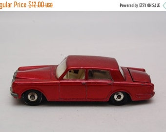 REDUCED Rolls Royce Silver Shadow #24 by Matchbox Lesney England. Vintage Die Cast Toy Car 1960's Gift idea