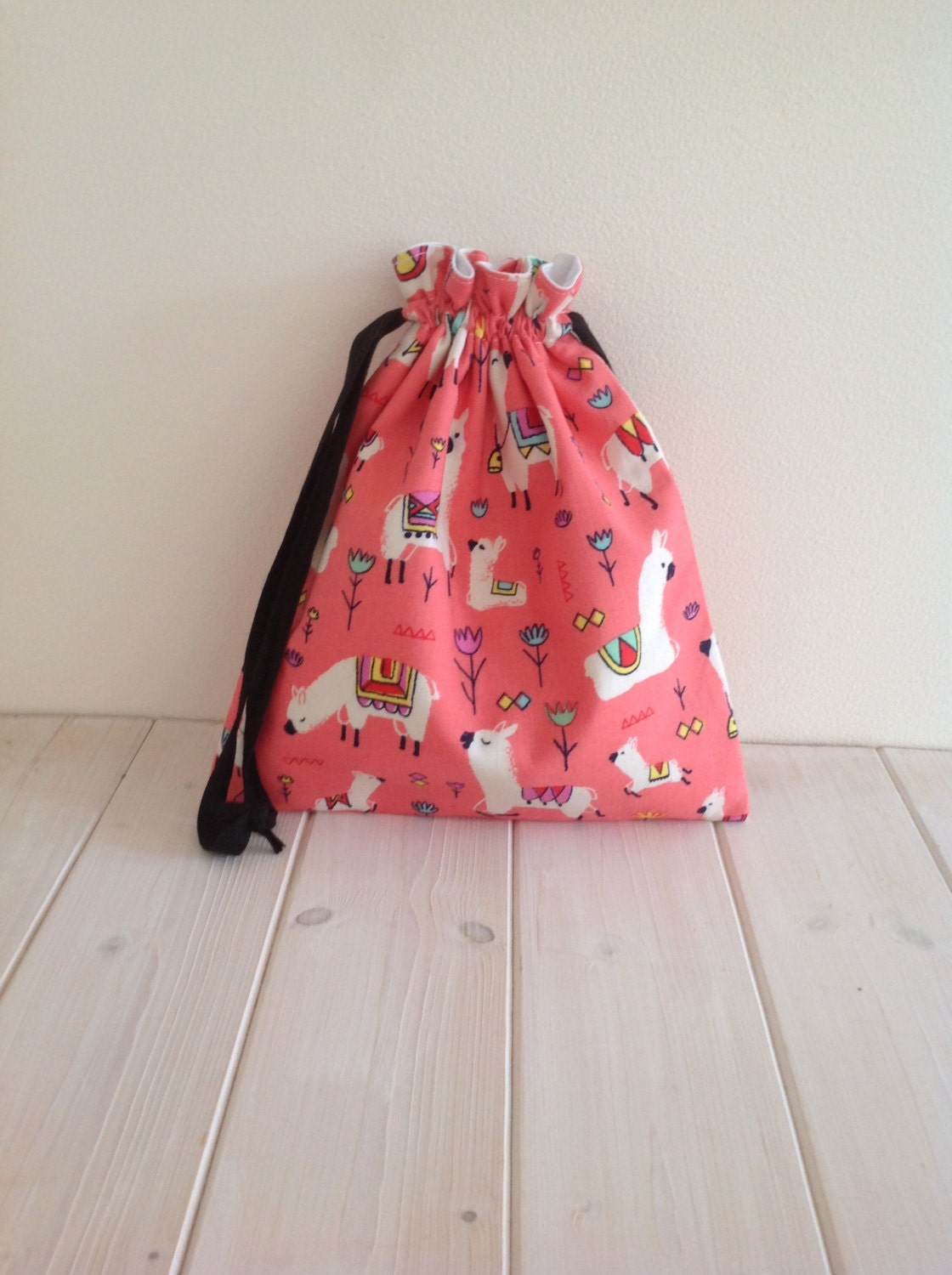 Knitting Project Bags Uk : Knitting bag project drawstring alpacas