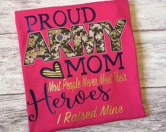Army mom, Proud Army mom t-shirt, army mom shirt, proud army mom shirt, proud army parent, army family day shirt, boot camp graduation