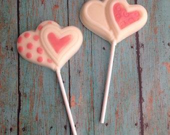 12 Heart Lollipops