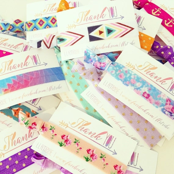 The Original LULAROE Thank You Card Hair Ties | Lularoe Business Cards + Hair Ties | Free Gifts, Fun Lularoe Hostess Gifts Incentives Promos