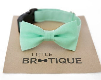 Mint Dog Bow Tie Sent 3-5 business days after you order