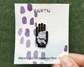 Helping Hand/Amor enamel pin by VGRTN