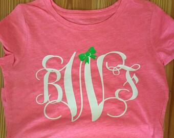 Pink Mongrammed Tshirt