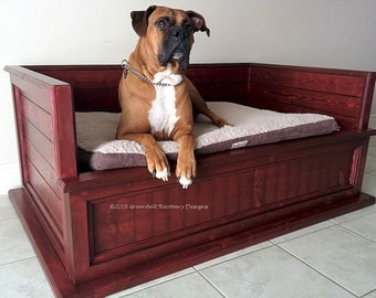 Reclaimed Recovery Wood Dog Bed,Handcrafted, Custom Made to Order