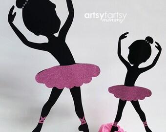 Ballerina Cutouts - Ballerina Sillhouette - Ballet Party - Ballerina Birthday - Ballerina Centerpiece - 5ct.