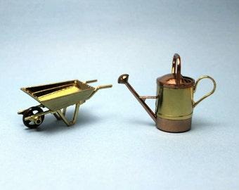 Miniature Wheelbarrow and Sprinkler