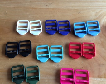 """Set of 2 Colored Strap Adjusters 1"""""""