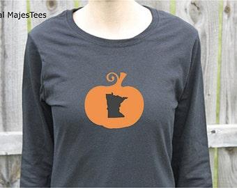 Minnesota Halloween Shirt, Womens Long Sleeve
