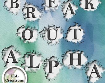 LLL Scrap Creations - Break Out Alpha - Digital Scrapbooking