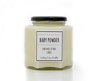 Baby Powder Candle, Baby Powder Scented Candle, Large Candle, Candle, Baby Powder Scent, Fresh Scent,  Fresh Candle, Relaxing Candle