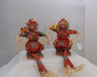 Pumpkin Scarecrow couple