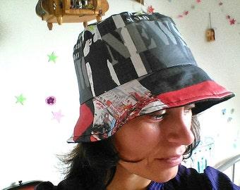 Rain hat / waterproof coated cotton Hat / Hat doubled Polar Cap woman rain cap tight Bell /bonnet