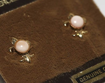 Coral Fleur De Lis Earrings
