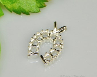 2.25mm Round Horseshoe Cluster Sterling Silver Pendant Setting (ID#161-225-0225)