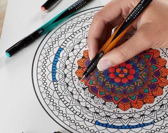 Prismacolor Premier Colored Markers, Set of 8; Fine Tip. Prismacolor Markers; Drawing, Blending, Coloring Book, Prismacolor Arts Crafts