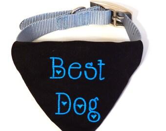 Wedding Dog Collar Bandana - Custom Dog Bandana- Dog In Wedding - Pet Wedding Bandana - Best Dog Bandana - Dog Best Man - Wedding Photo Prop