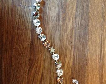 Desert Sands: 8.5mm Swarovski Crystal Bracelet