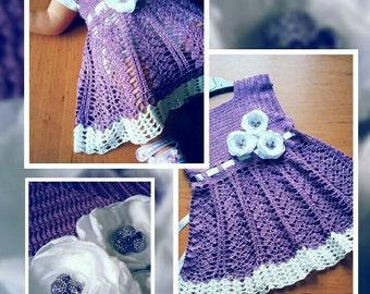 Purple baby girl dresd
