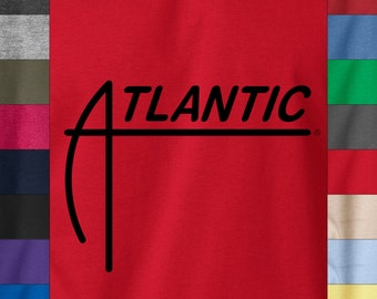 ATLANTIC Records Soft Ringspun Cotton T-Shirt Vintage Jazz Soul Radio Label Dope