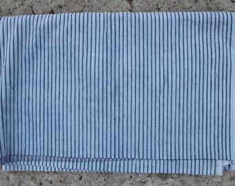 Soviet Corduroy Fabric, Vintage Russian Blue Cotton Corduroy Fabric . Retro Fabric.  Made in USSR